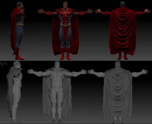 Superman 3d ZBrush by ErikVonLehmann