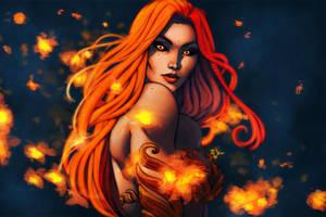 Fire Blume by ErikVonLehmann