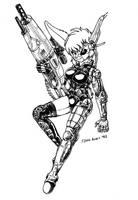 Cyborg Maya by s0lar1x
