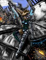Cyborg Maya -coloured- by s0lar1x