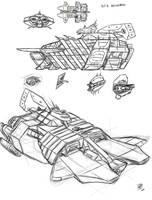 Battlecarrier concept by s0lar1x