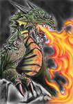 Dragon - Firebreath by s0lar1x
