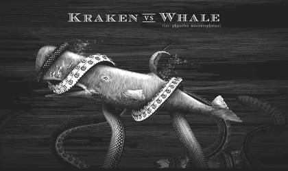 Kraken vs Whale by srnoble