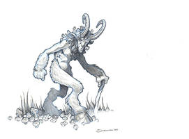 Limping Faun by voya