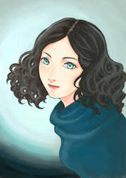 girl with curls by zoelee