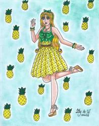 Pineapple Girl by Lily-de-Wakabayashi