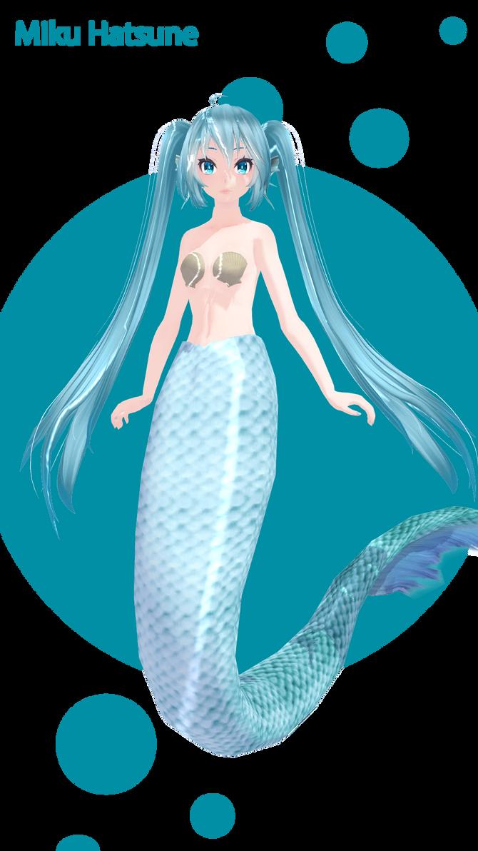 Miku mermaid DL! by Galaktika537