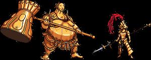 Dragon Slayer Ornstein and Executioner Smough by FiragaShark