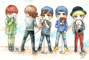 [SHINee] Dream Girl Dance Practice Pic! from LINE by shinky2309