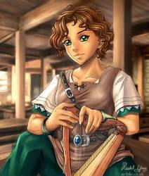 Celia the bard by Artoki