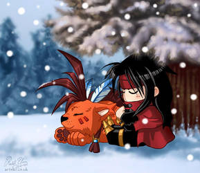 Advent Chibis : Red + Vincent by Artoki