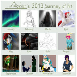 2013 Art Summary by Lalliebear