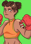 Boxing Girl by eipugsley