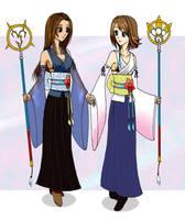 Summoners Yuna and Lenne by Jigokuko