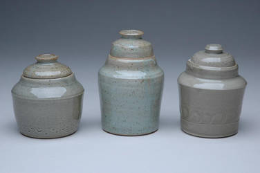 Crescent Jars by sonkette