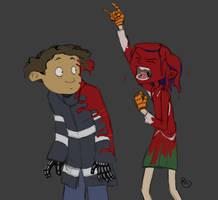 Coraline and Wybie see GWAR by rachelo