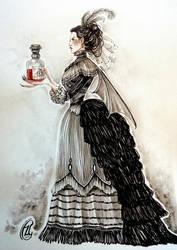 CharaDesign Challenge ~ Vampire Countess Valeria by Calicot-ZC