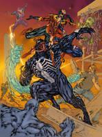 Hardworking 2: Spidey VS Sinister Syndicate by ZethKeeper
