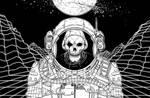 Skeleton Astronaut by MrChrizpy