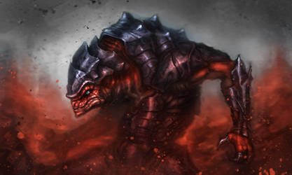 Krogan berserker by Dandzialf