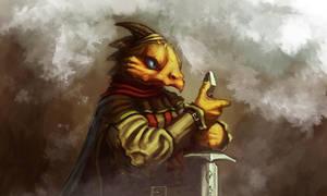 Lizard warrior by Dandzialf