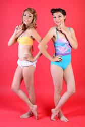 Ace n Deb ~ Beach Babes by XxSaraiyu-StockxX