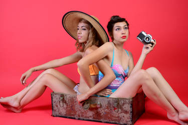 Ace n Deb ~ Beach Babes II by XxSaraiyu-StockxX
