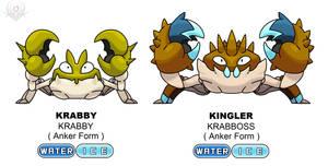 Anker Regional Form - Krabby and Kingler by scorpenomorph