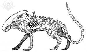 Feline Alien by scorpenomorph