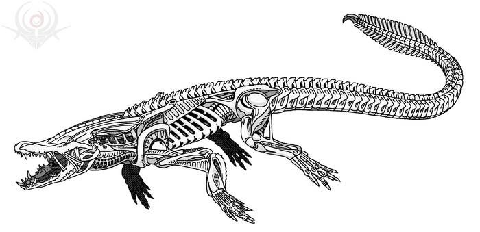 Crocodile Alien by scorpenomorph