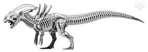 Allosaurus Alien by scorpenomorph