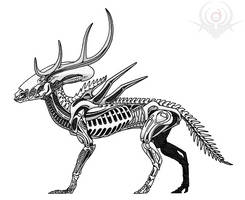 Deer Alien by scorpenomorph