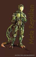 Meta Reptilian Humanoid by Jesther101
