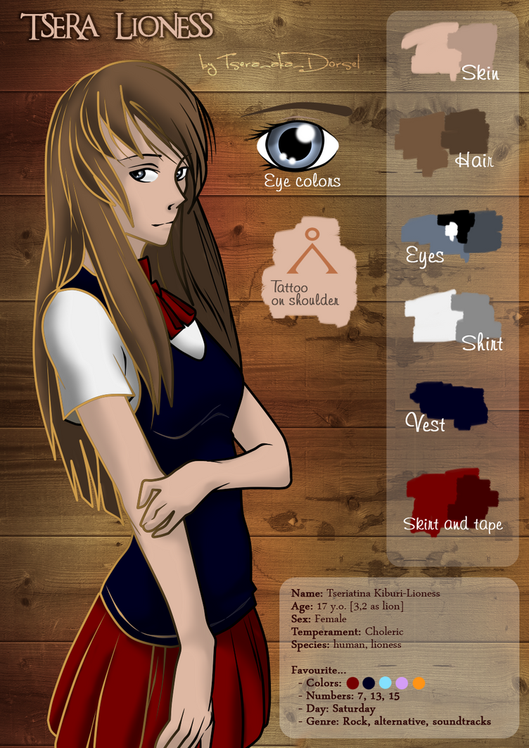 Tsera Lioness refsheet by Tsera-aka-Dorsel