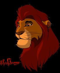 Canon: Mufasa as Teen by Tsera-aka-Dorsel