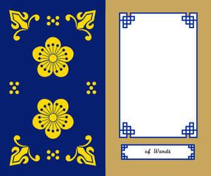 Korean Tarot Wands Card Front by kimyoonmi