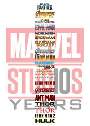 MCU Ranking - 10 Years by JMK-Prime