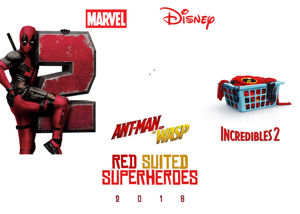 Red Suited Super-Heroes 2018 by JMK-Prime