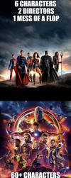 Differences between Justice League and Avengers by JMK-Prime
