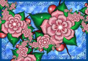 Cherry blossoms by Liuanta