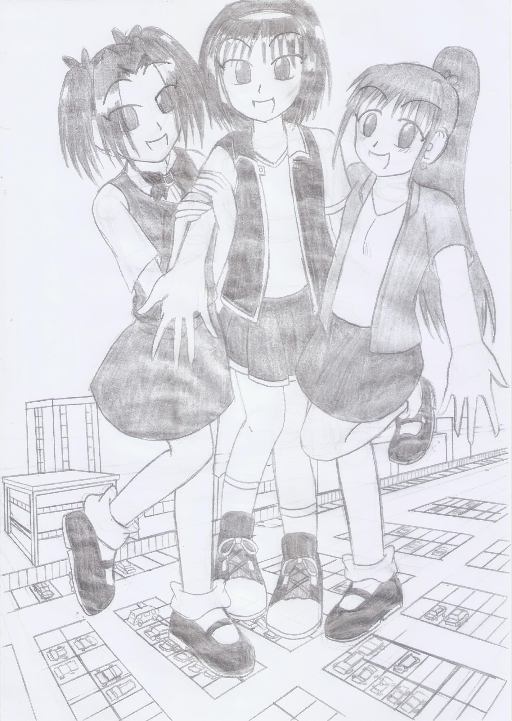 Keiko, Rem And Min-Hwa by TheKenzai1987