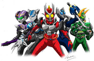 Kamen Rider Ryuki (Kabuto Style) by Metrosaurus