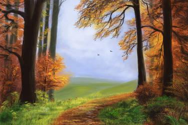 Autumn Forest by StefanieDworschak