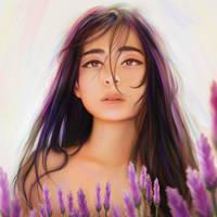 Lavender girl by myjerart