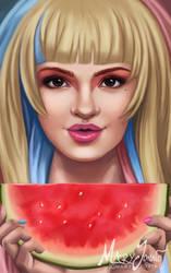 Wondrous Watermelon by MaryJovino