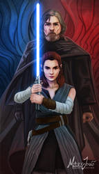 Luke and Rey  by MaryJovino