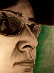 Self Portrait close up by AlienMonkey