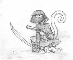 Ninja Monkey Pirate by ScottLincoln