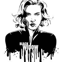 Avengers in Ink: Black Widow by loominosity