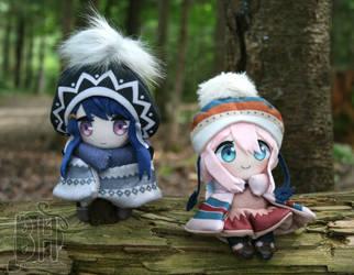 Rin and Nadeshiko Plushies by Nikicus